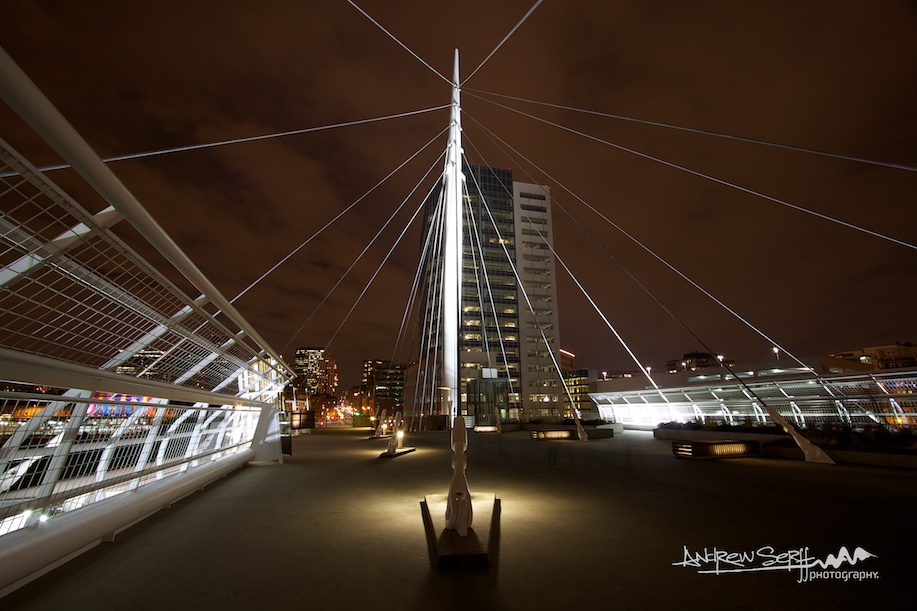 Denver Millennium Bridge at Night